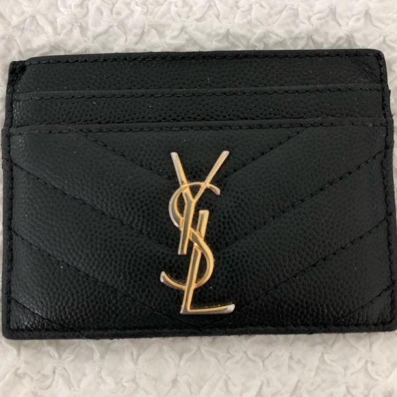 45270995cf3 Saint Laurent Monogram Card Case in Grain Embossed.  M_5cf28d6029f0301a49628e89